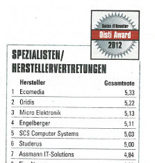 Artikel Disti-Award 2012